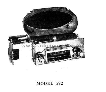 delco radio 592 car radio general motors of canada oshawa. Black Bedroom Furniture Sets. Home Design Ideas