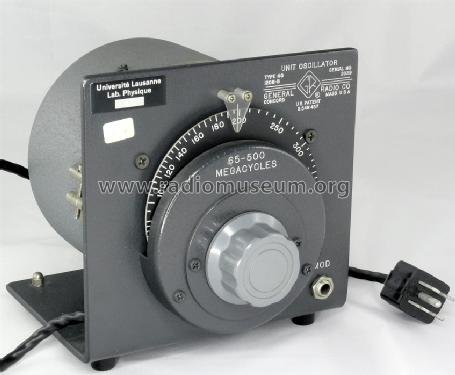 Oscillator 1208-B ; General Radio (ID = 735573) Equipment