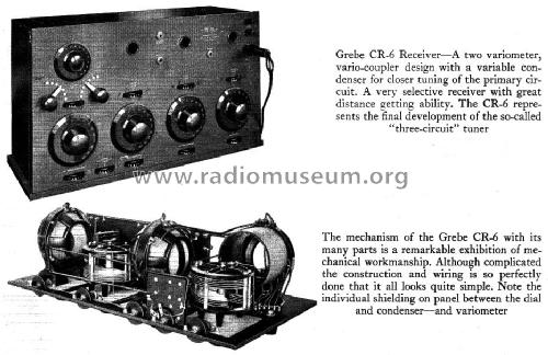CR6 RadioPhone; Grebe, A.H. & Co.; (ID = 946721) Radio