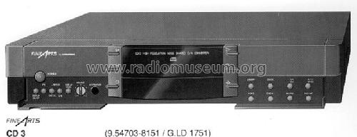 cd player fine arts cd3 r player grundig radio vertrieb rvf. Black Bedroom Furniture Sets. Home Design Ideas