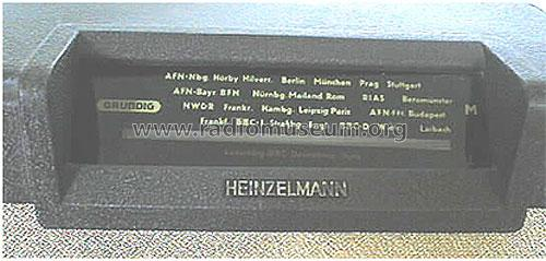 Heinzelmann 126W; Grundig Radio- (ID = 74837) Radio