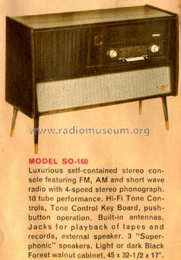 Majestic Stereo Console SO160 Ua Radio Grundig Radio-