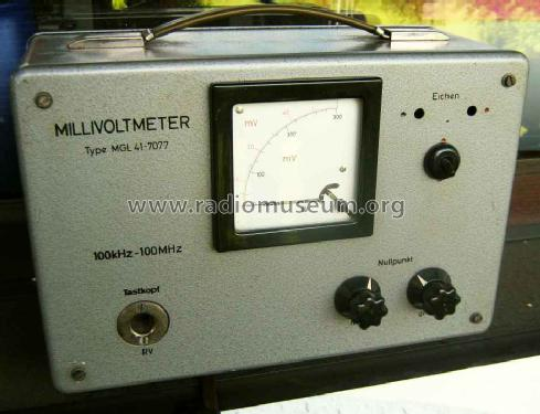 Millivoltmeter MGL 41 7077; Grundig Radio- (ID = 1654766) Equipment
