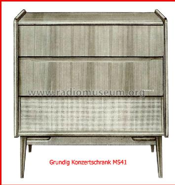 Stereo-Konzertschrank MS41 Nussbaum Radio Grundig Radio-