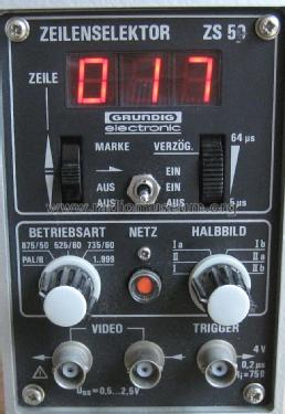 Zeilenselektor ZS50; Grundig Radio- (ID = 1171658) Equipment