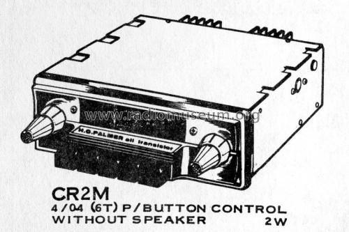 Cr2m Ch 4 04 Car Radio Palmer H G Hgp H G P H G Palm