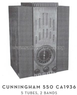 Cunningham 550 ; Unknown - CUSTOM (ID = 1596317) Radio