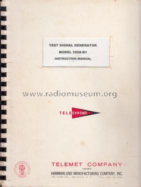 Telechrome Test Signal Generator 3508-B1 Equipment Telemet C