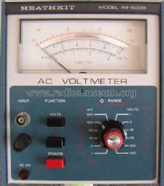 ac voltmeter im 5238 equipment heathkit brand heath co be rh radiomuseum org Heathkit DX 40 Manual Assembly Heathkit Manuals PDF