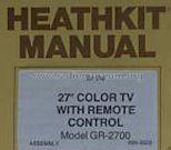 Color TV 27' GR-2700; Heathkit Brand, (ID = 665252) Television