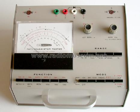 FET / Transistor Tester IT-121; Heathkit Brand, (ID = 157512) Equipment