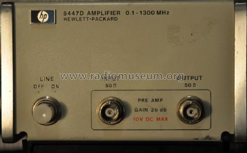 Amplifier 0.1-1300 MHz 8447D; Hewlett-Packard, HP; (ID = 1563940) Equipment