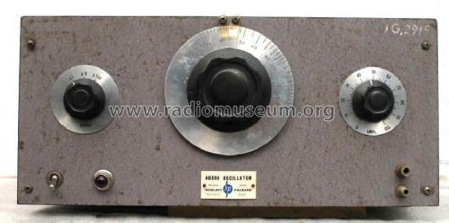 Audio Oscillator 200A; Hewlett-Packard, HP; (ID = 241370) Equipment