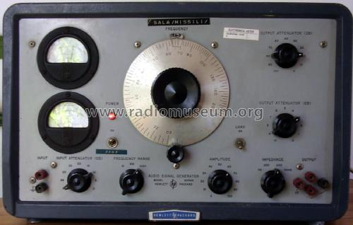 Audio Signal Generator 205ag Equipment Hewlett Packard Hp