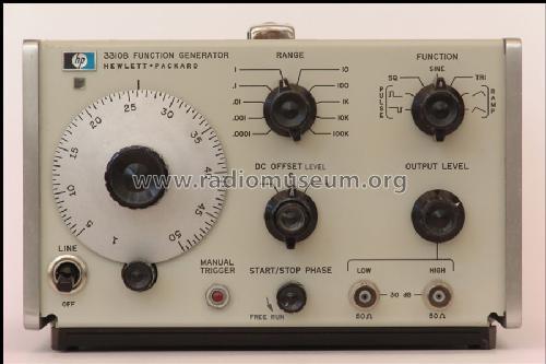 Ac Signal Generator : Function generator a b equipment hewlett packard