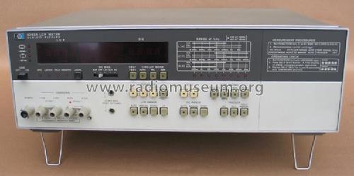 Hp Lcr Meter : Lcr meter a equipment hewlett packard hp palo alto ca