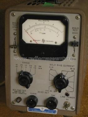 Microwave Power Meter 430C; Hewlett-Packard, HP; (ID = 202620) Equipment