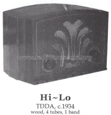 Hi-Lo TDDA ; Unknown - CUSTOM (ID = 1420249) Radio