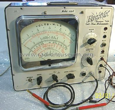 209-A Volt-Ohm Capacity Milliammeter; Hickok Electrical (ID = 968583) Equipment