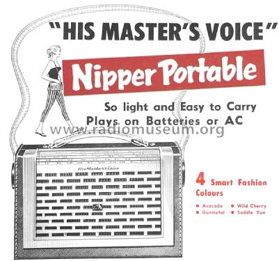 Nipper Portable 14-15 Ch= 14; His Master's Voice (ID = 2098804) Radio