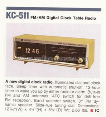 FM/AM Digital Clock Table Radio KC-511