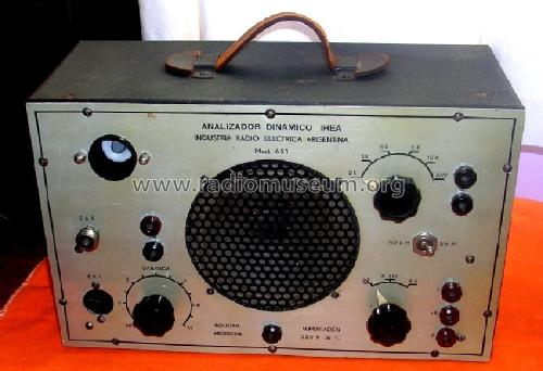 Analizador dinámico 651; Industria Radio (ID = 986854) Equipment