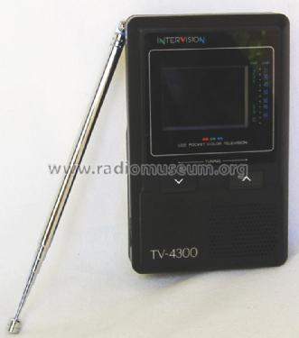 LCD Pocket Color Television TV-4300; Intervision (ID = 1830066) Television