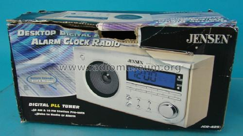 digital alarm clock radio jcr 425 radio jensen radio. Black Bedroom Furniture Sets. Home Design Ideas