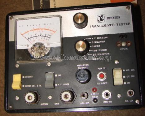 Transceiver Tester 250-0718-001; Johnson, E.F.; (ID = 1325362) Equipment
