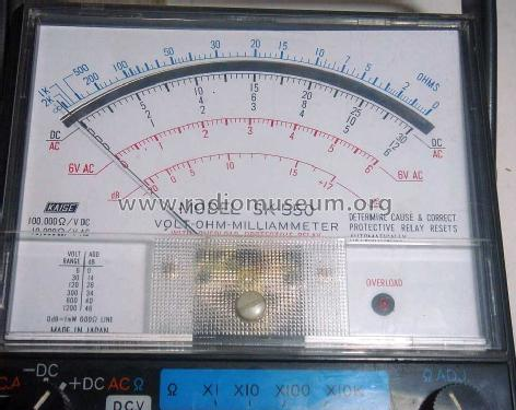 Volt-Ohm-Milliammeter - Multitester SK-550; Kaise electric (ID = 1587568) Equipment