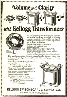 Radio Frequency Transformer 602; Kellogg Switchboard (ID = 1292634) Radio part