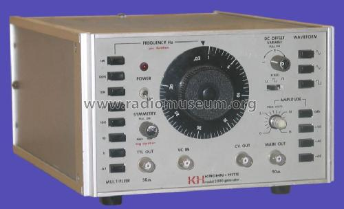 Function Generator 2000; Krohn-Hite Corp.; (ID = 1008847) Equipment