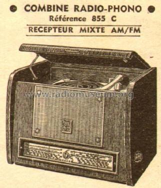 Radio-Phono 855C; Pathé Freres, Pathé- (ID = 541388) Radio