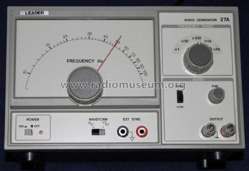 Audio Generator LAG-27; Leader Electronics (ID = 1034800) Equipment