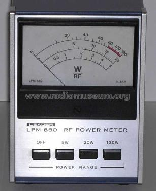 RF Power Meter LPM-880 Amateur-D Leader Electronics Corp