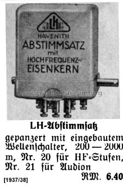 L.H.-Abstimmsatz ; Leha, Leo Havenith, (ID = 1430991) Radio part