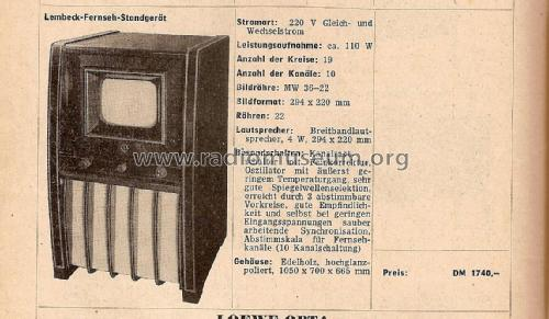 LFS1730T; Lembeck & Co.Lembeck (ID = 1772730) Television