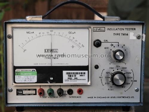 Insulation Tester TM14; Levell Electronics (ID = 1099343) Equipment