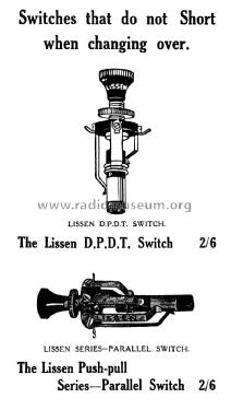 D.P. D. T. Switch ; Lissen Ltd.; London (ID = 1301176) Radio part