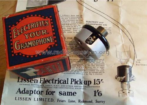 Electrical Pick-up ; Lissen Ltd.; London (ID = 1298587) Microphone/PU