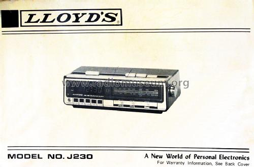 FM /AM Calendar Clock J230; Lloyd's Electronics; (ID = 1595777) Radio