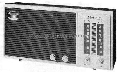 Solid State 2 Speaker 7H15G; Lloyd's Electronics; (ID = 1517969) Radio
