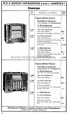 Supercelohet Junior G; Lorenz; Berlin, (ID = 1580104) Radio
