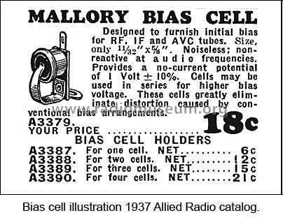 Bias Cell & Holder GB11A; Mallory P.R. & Co.; (ID = 2088217) Power-S