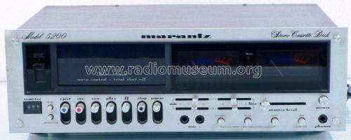 Stereo Cassette Deck 5200; Marantz Sound United (ID = 2084146) R-Player