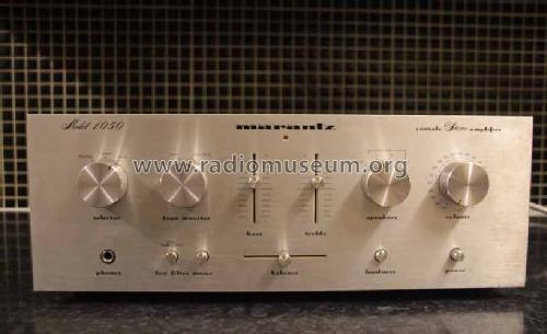Console Stereo Amplifier 1050-T; Marantz; Itasca (ID = 1582510) Ampl/Mixer