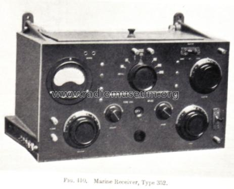 Marine Receiver 352; MIM, Marconi (ID = 1095240) Commercial Re