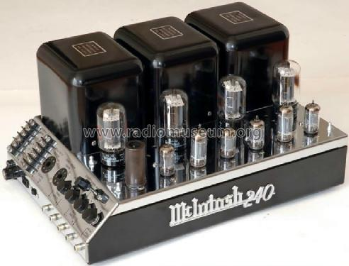 mc 240 2p629 ampl mixer mcintosh audio company binghamton rh radiomuseum org McIntosh MX110 Review Vintage McIntosh Tube Amplifiers