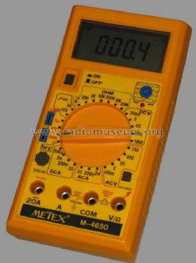 Digital Multimeter M-4650; Metex Corporation, (ID = 801718) Equipment
