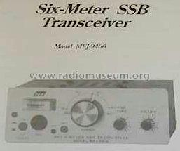 Six-Meter SSB Transceiver MFJ-9406 Amateur MFJ Enterprises